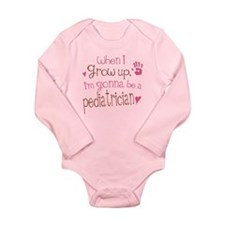 Kids Future Pediatrician Long Sleeve Infant Bodysu