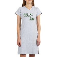 Relax Cabin Cottage Women's Nightshirt