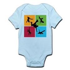 Nice various breakdancing Infant Bodysuit