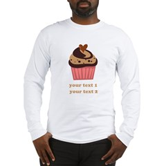 PERSONALIZE Chocolate Cupcake Long Sleeve T-Shirt