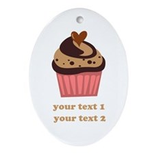 PERSONALIZE Chocolate Cupcake Ornament (Oval)