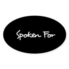 Spoken For Sticker (Black)