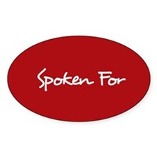 Spoken For Sticker (Red)