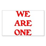 WE ARE ONE XXV Sticker (Rectangle 50 pk)