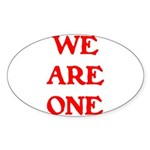 WE ARE ONE XXV Sticker (Oval 50 pk)