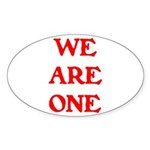 WE ARE ONE XXV Sticker (Oval)