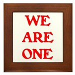 WE ARE ONE XXV Framed Tile