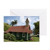 Quaint Maui Church Greeting Cards (Pk of 10)