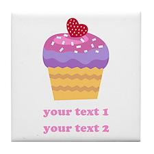 PERSONALIZE Fruit Cupcake Tile Coaster