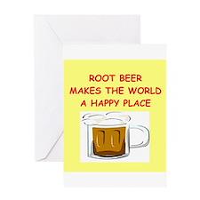 root beer Greeting Card