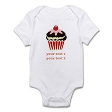 PERSONALIZE Vanilla Cupcake Infant Bodysuit