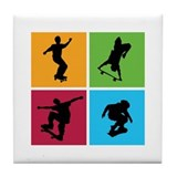 Nice various skating Tile Coaster