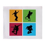 Nice various skating Throw Blanket