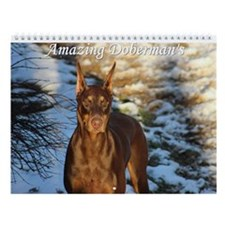 Amazing Dobermans Wall Calendar
