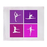 Nice various dancing Throw Blanket