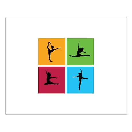 Nice various dancing Small Poster