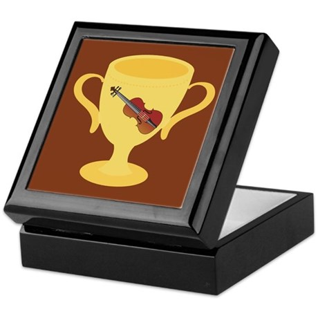 Violin Trophy Award Keepsake Box