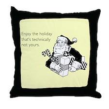 Enjoy the Holiday Throw Pillow