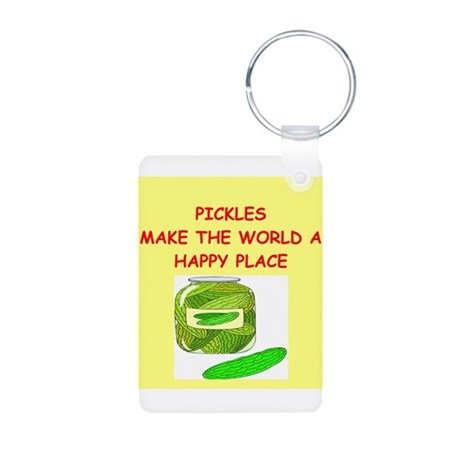 pickles Aluminum Photo Keychain