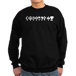 Coexist and Love Sweatshirt (dark)