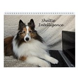 Sheltie Intelligence Funny Wall Calendar
