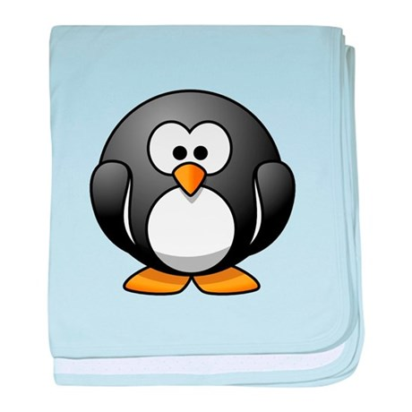 Cartoon Penguin baby blanket
