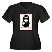 I Want You Women's Plus Size V-Neck Dark T-Shirt