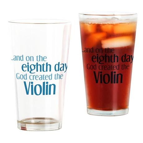 Violin Creation Drinking Glass
