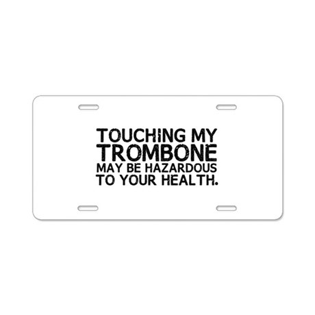 Trombone Hazard Aluminum License Plate