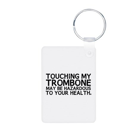 Trombone Hazard Aluminum Photo Keychain