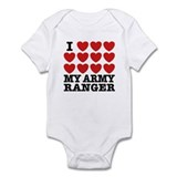 I Love My Army Ranger Onesie