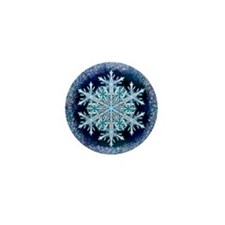 December Snowflake Mini Button