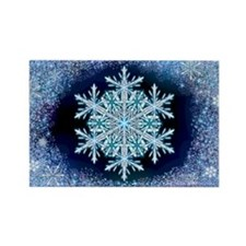 December Snowflake Rectangle Magnet