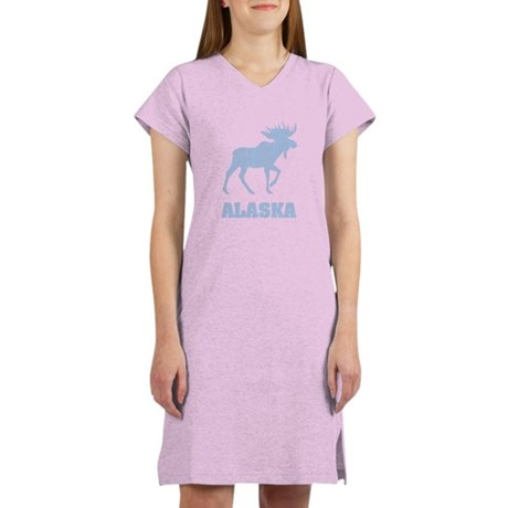 Retro Alaska Moose Women's Nightshirt