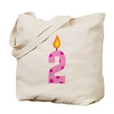 Custom 2nd Birthday Candle Tote Bag