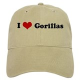 I Love Gorillas Baseball Cap