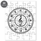 Black Circle of Fifths Puzzle