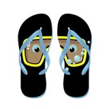 Yellow Goggles Flip Flops