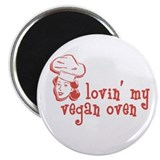 "Female Vegan Oven 2.25"" Magnet (10 pack)"