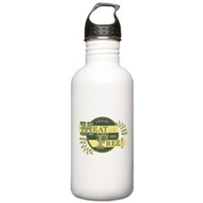 Meat Free Sign Green Water Bottle