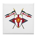 Medieval Shield Graphic Tile Coaster