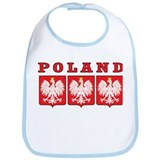 Poland Eagle Shields Bib
