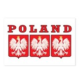 Poland Eagle Shields Postcards (Package of 8)