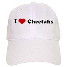 I Love Cheetahs Baseball Cap