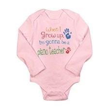 Kids Future Piano Teacher Long Sleeve Infant Bodys