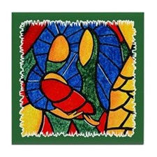 Holy Family Ceramic Tile Christmas Coaster