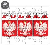 Polska Flag Eagle Shields Puzzle