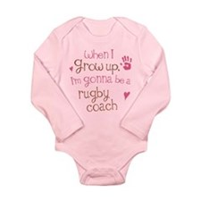 Kids Future Rugby Coach Long Sleeve Infant Bodysui