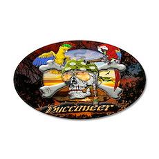 Buccaneer Parrot Pirates 22x14 Oval Wall Peel