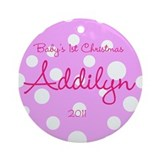 Baby's Girls 1st Christmas Ornament